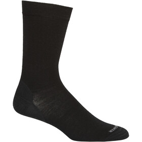 Icebreaker Lifestyle Fine Gauge Crew Socks Men black